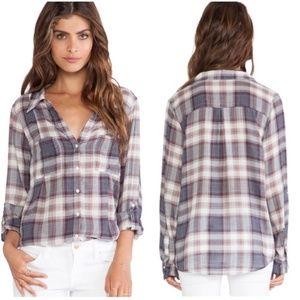 Joie Cartel Plaid Cotton Shirt